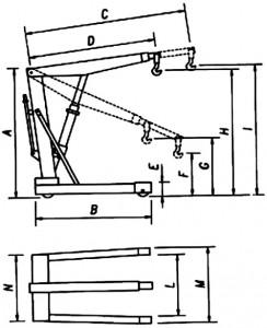 Werther motor kiemelő (zsiráf) technikai adatokhoz ábra