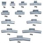Felütős keréksúlyok könnyűfémfelnire (20 gr)